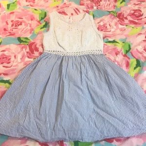 Lilly Pulitzer Blue seersucker Alivia Dress sz 0